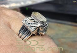 hemi ring - Mud Tire Wedding Rings