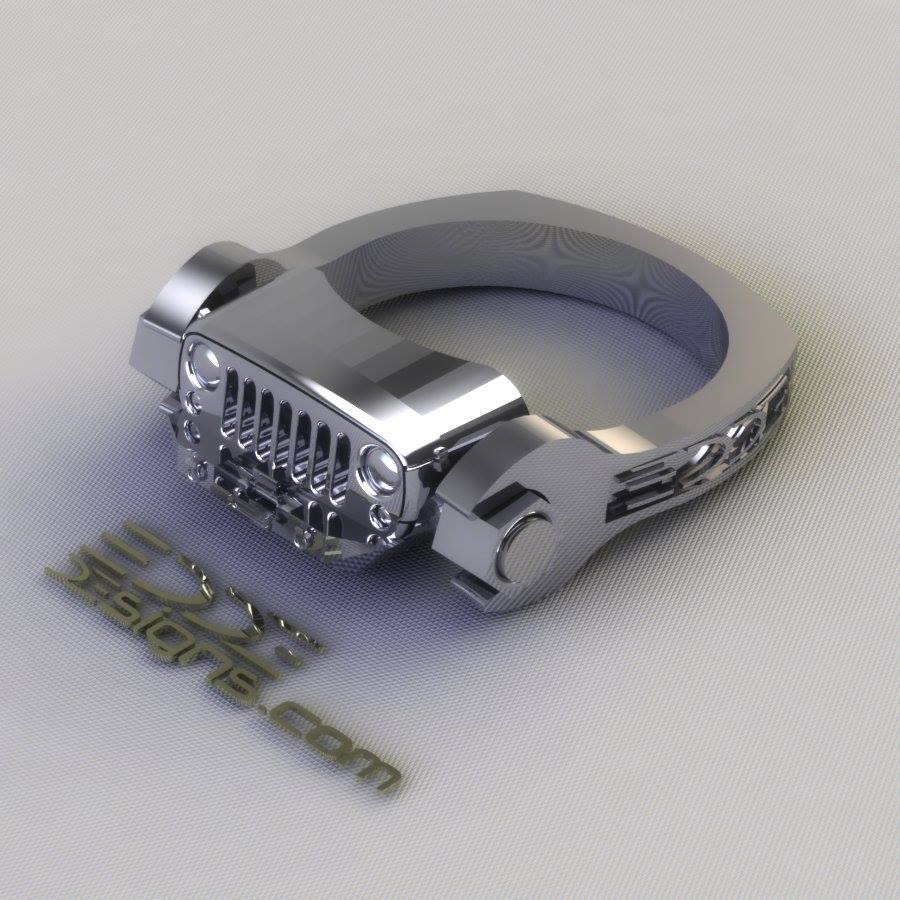 jk wrench - Mud Tire Wedding Rings