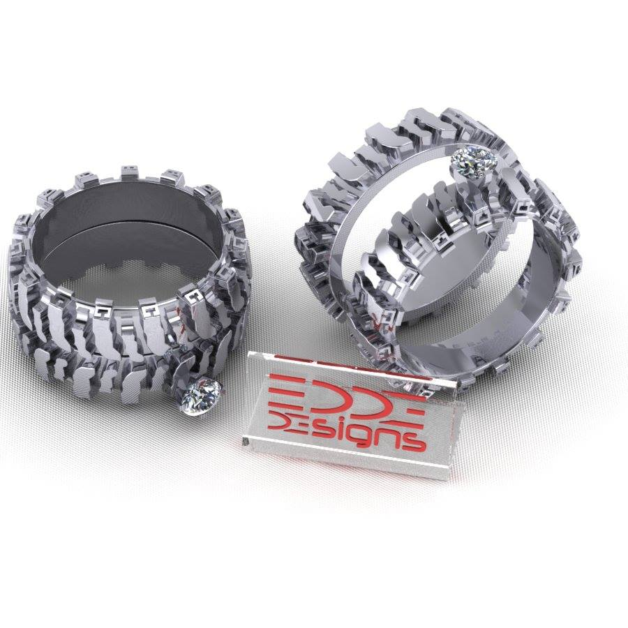 rings designs split edde tread ring product half design