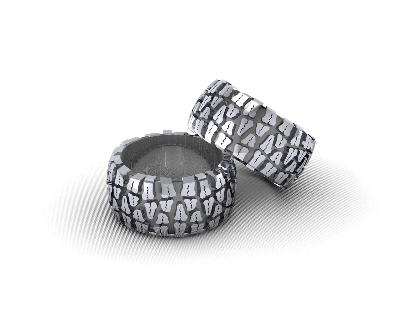 Silver Tread Ring Edde Designs